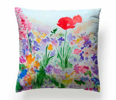 Cuscini Di Design.Cuscini Di Design Ostia Tessuti Watercolor Flower Ambienti Roma