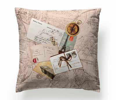 Cuscini Di Design.Cuscini Di Design Ostia Tessuti Stampe Vintage Lettere