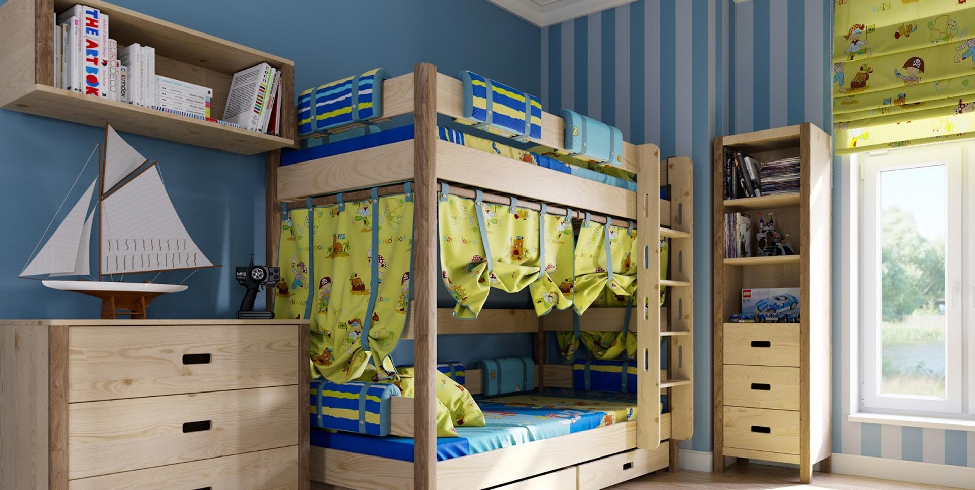 Idee sui tendaggi per camere per bambini ambienti for Arredamento bambini roma